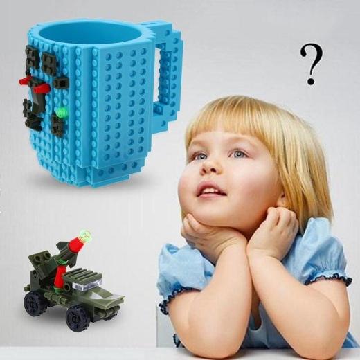 Креативная кружка с конструктором Lego Оригинальная кружка для детей. С помощью конструктора ребено