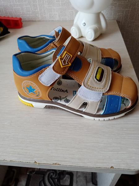 Продам новые сандалии на мальчика. 30 р-р