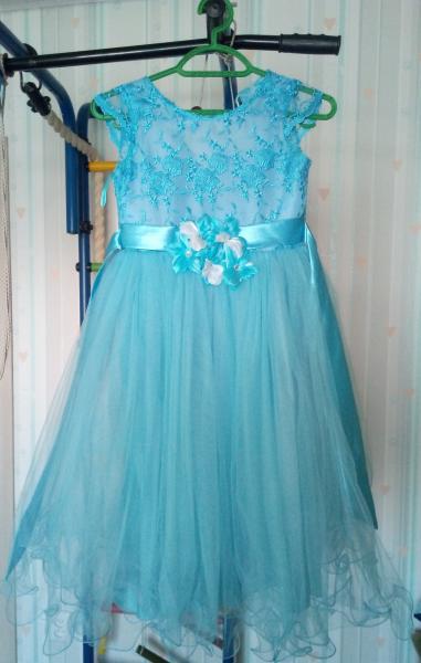 Продам платье для девочки 6-7 лет. Покупали дочке на выпускной, одевали два раза (на выпускной и нов