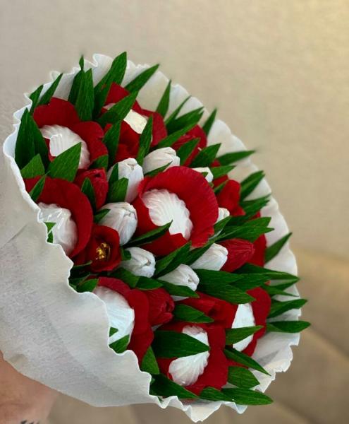 Сделаю на заказ букеты из конфет, зефира, маршмелоу, а также кружечки с конфетками