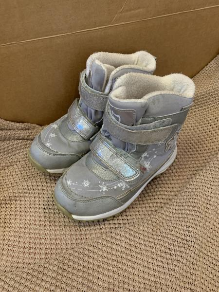 Зимние ботинки для девочки, р-р 30, на липучках