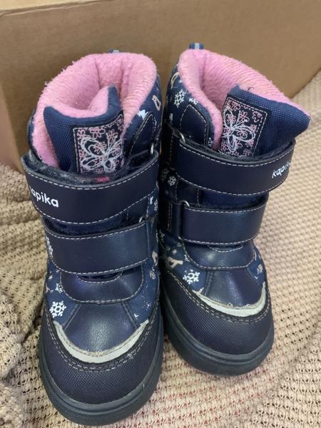 Зимние детские ботинки, в х/c, р-р 26, по стельке 16,5 см. Внутри овчина.Kapika
